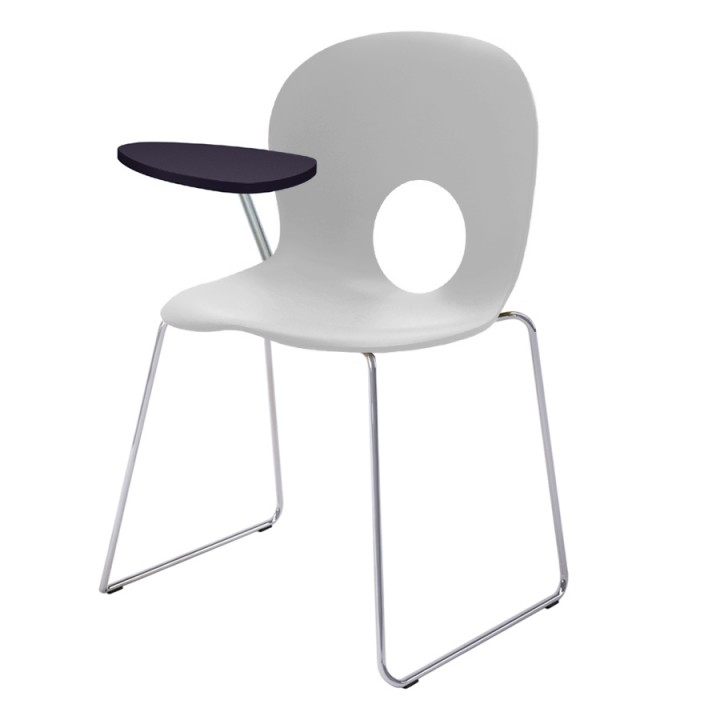 Olivia Slim - Chair with right writing tablet, antipanic hinge