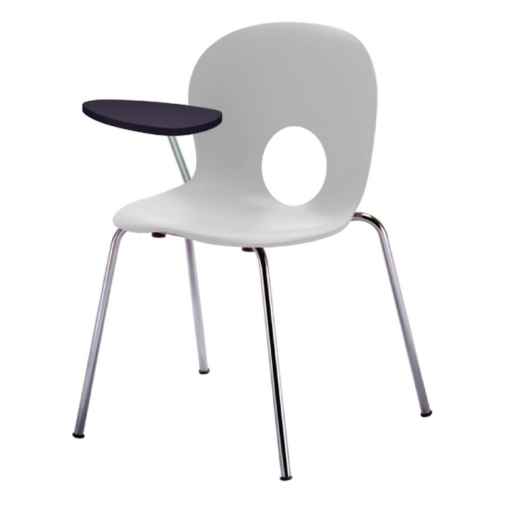 Olivia - Chair with right writing tablet, antipanic hinge