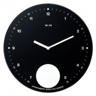 Appuntamento - Black - Pendulum wall clock