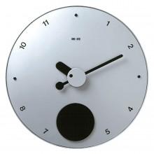 Contrattempo - Aluminium finish - Pendulum wall clock